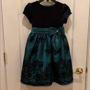 Jane Copeland Hunter Green Elegant Dress. Size 6x